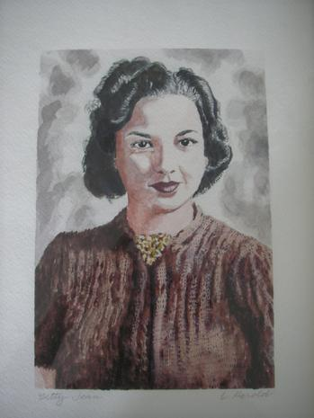 Betty Jean Caldwell Barnes Portrait Painting