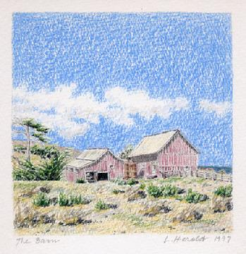 Santa Rosa Island Barn Art Print, California Channel Islands